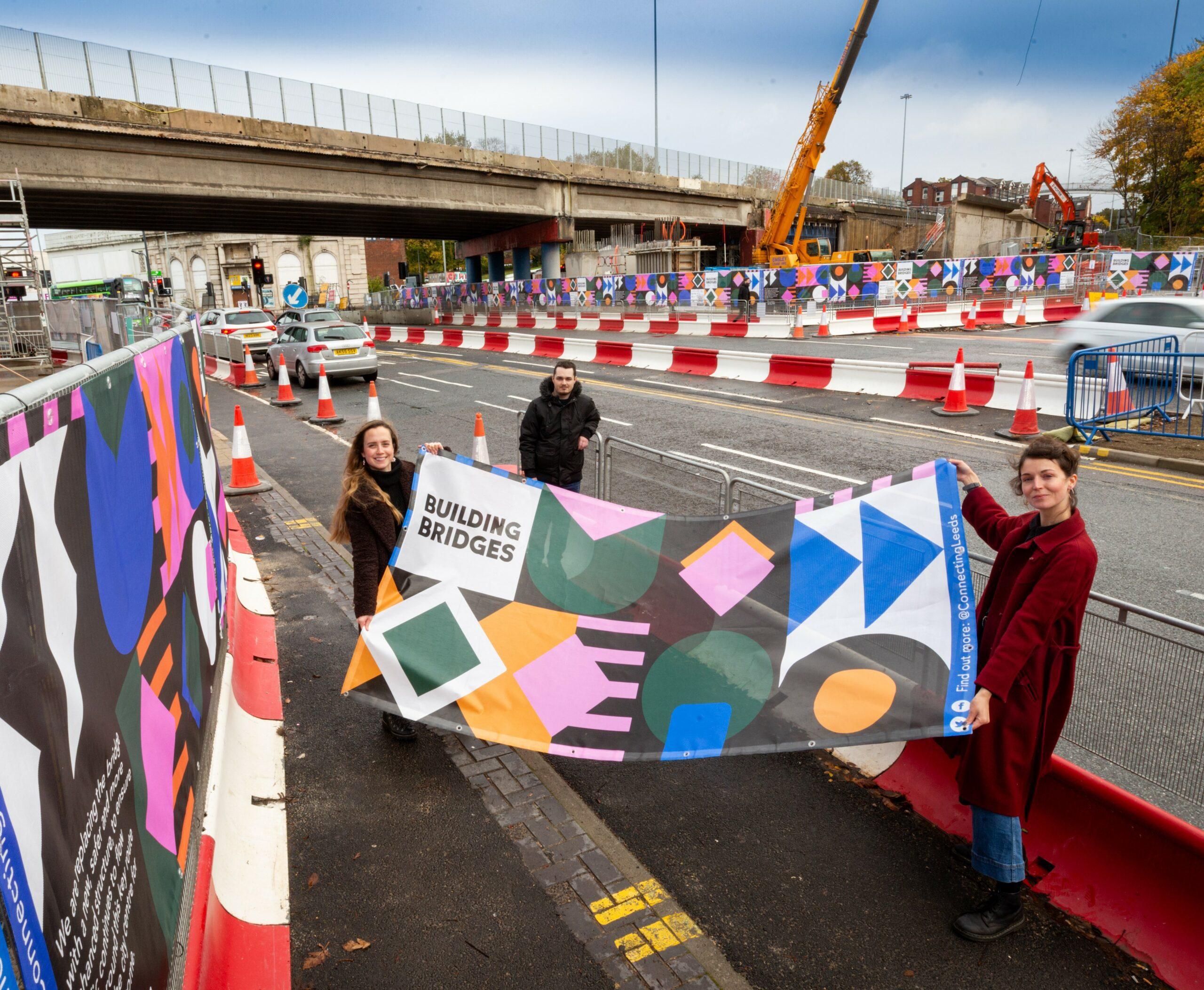 REGENT STREET FLYOVER LEEDS ARTIST'S BANNERS